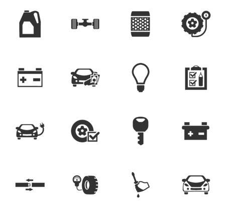 Car service maintenance icons set for website design