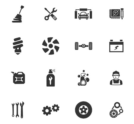 alignments: Car service maintenance icons set for website design