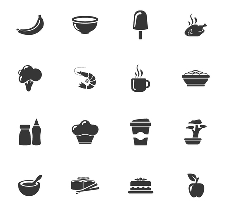 ice tea: Food icons set and symbols for web user interface