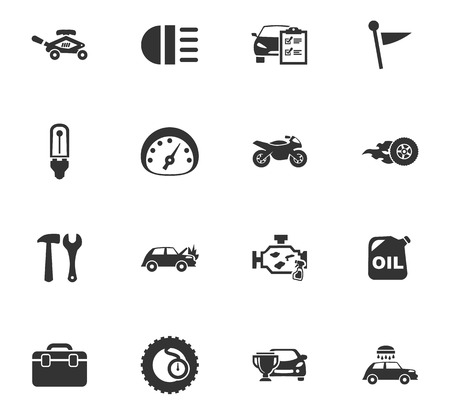 car wash: Car service maintenance icons set for website design