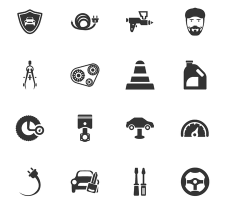 auto service: Car service maintenance icons set and symbols for web user interface