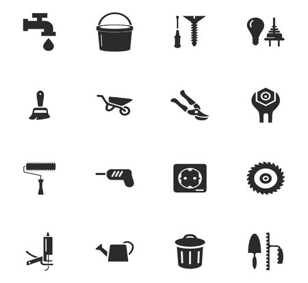 Construction and repair icons set and symbols for web user interface