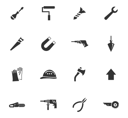 impeller: Construction and repair icons set for design