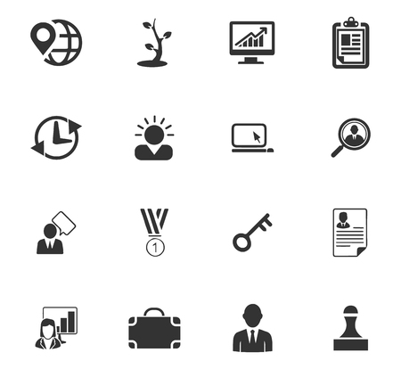 Business icons set and symbols for web user interface Ilustração
