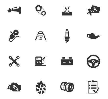 Icônes d'entretien de service de voitures définies et des symboles pour l'interface utilisateur Web Banque d'images - 68690387