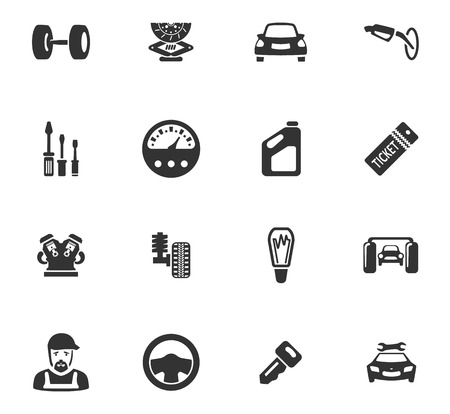 Car service maintenance icons set and symbols for web user interface
