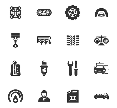 automatic transmission: Car service maintenance icons set and symbols for web user interface