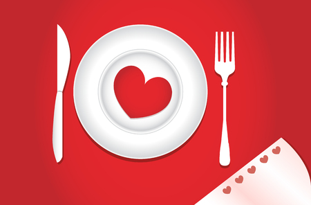 Dinner for lovers on Valentines Day