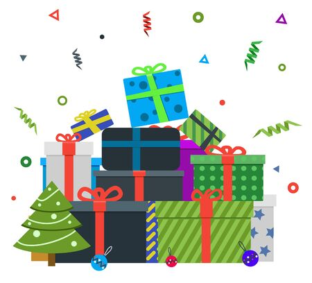 chrismas: Merry Chrismas gift box Illustration
