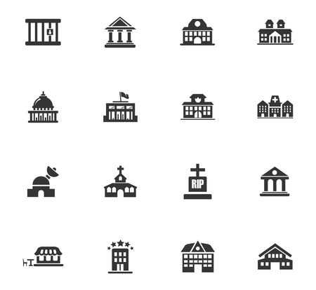 Building icons set Stock Vector - 83943841