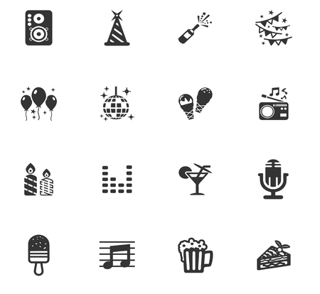 foodies: Party time icons set