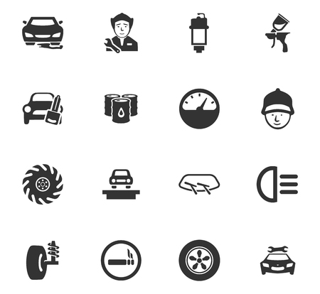 er: Auto icons set and symbols for web user interface