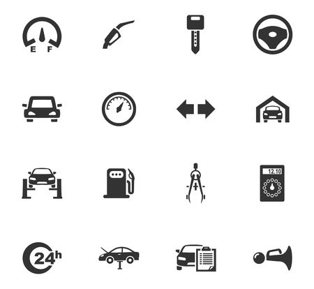 dashboard: Auto icons set and symbols for web user interface