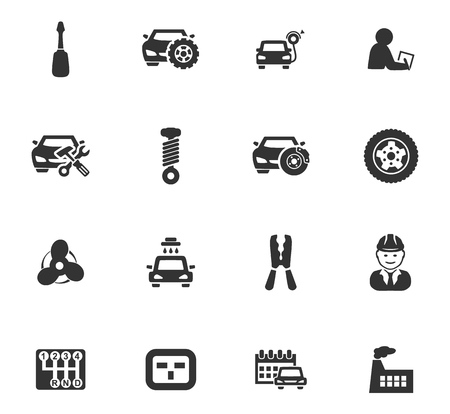 absorbed: Auto icons set and symbols for web user interface