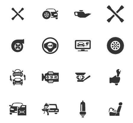aftermarket: Auto icons set and symbols for web user interface