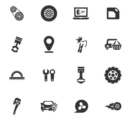 Auto-iconen instellen en symbolen voor web-gebruikersinterface Stockfoto - 84404348