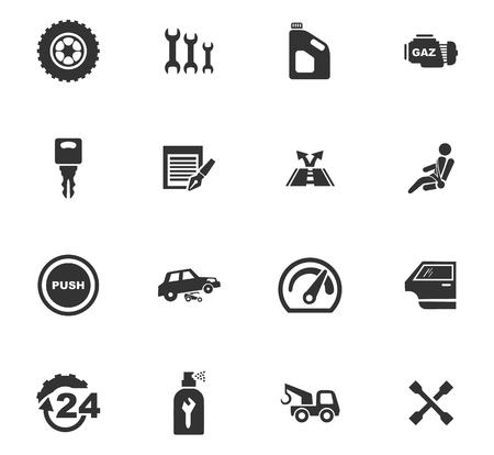 Auto Icons Set und Symbole für Web-Benutzeroberfläche Standard-Bild - 84404354