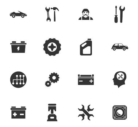 Auto-iconen instellen en symbolen voor web-gebruikersinterface Stockfoto - 84404475