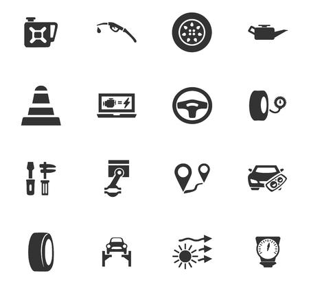 Auto-iconen instellen en symbolen voor web-gebruikersinterface Stockfoto - 84404486