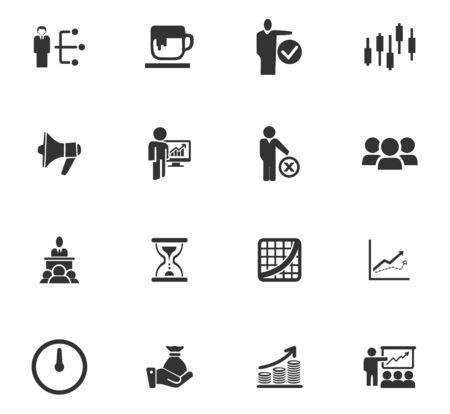 Business icons set and symbols for web user interface 일러스트