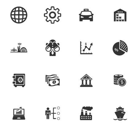Business icons set for website design