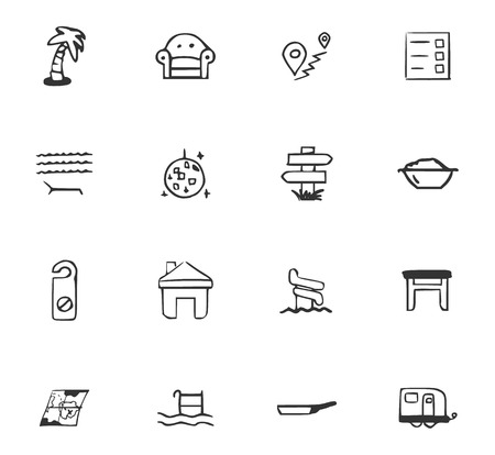 Doodle Travel icon for web design