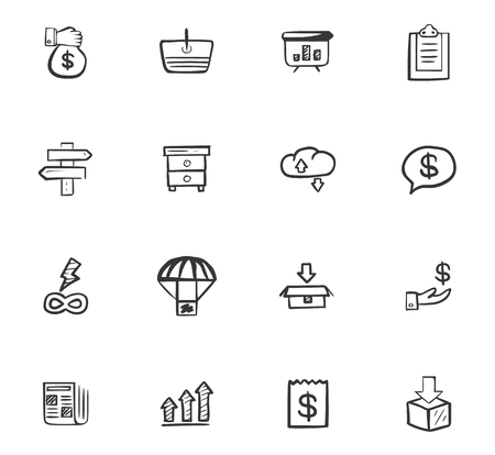Business icons set Vettoriali
