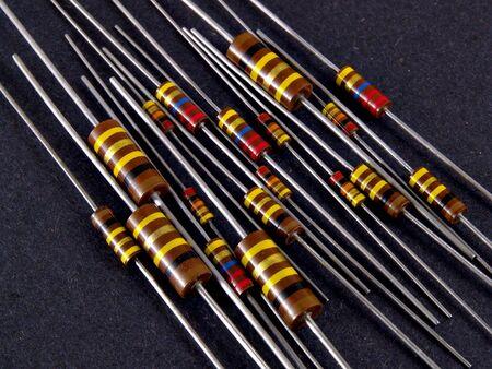 resistors: Some old style resistors Stock Photo