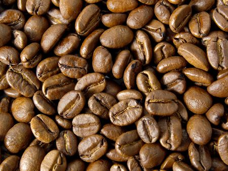 cafe colombiano: fondo utilizando granos de caf� colombiano en una placa