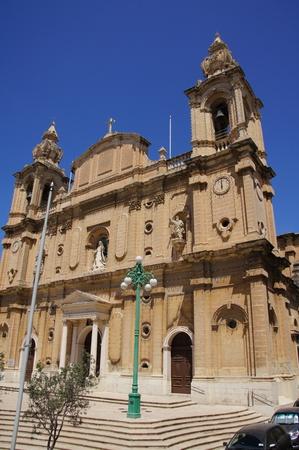 church in malta Banco de Imagens