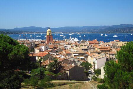 tropez: Beautiful view of Saint Tropez, France Stock Photo