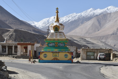 Village gompa in the Shyok valley, Jammu and Kasmir, India