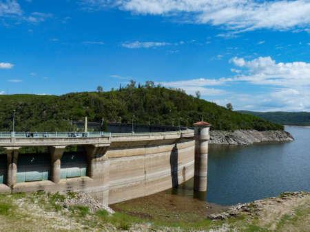 dam over low lake