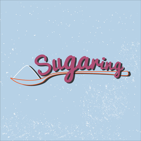 sugar paste: Sugaring icon. sugar paste