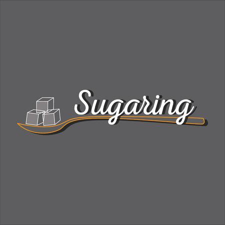 paste: Sugaring icon. sugar paste