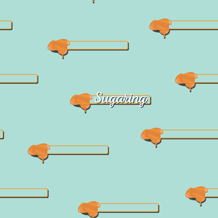 sugaring: seamless pattern. sugaring icon. sugar paste for epilation Illustration
