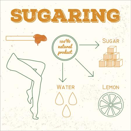 Illustration de sucre ingrédients de pâte de sucre