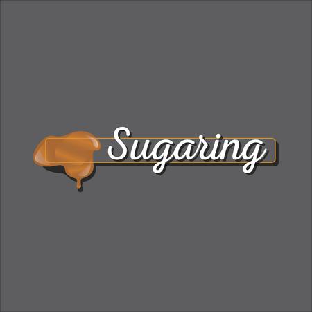 paste: Sugaring epilation icon. sugar paste