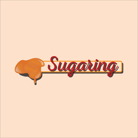 Sugaring icon. sugar paste