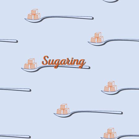 sugar paste: seamless pattern. sugaring icon. sugar paste for epilation Illustration