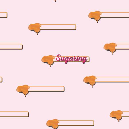 paste: seamless pattern. sugaring icon. sugar paste for epilation Illustration