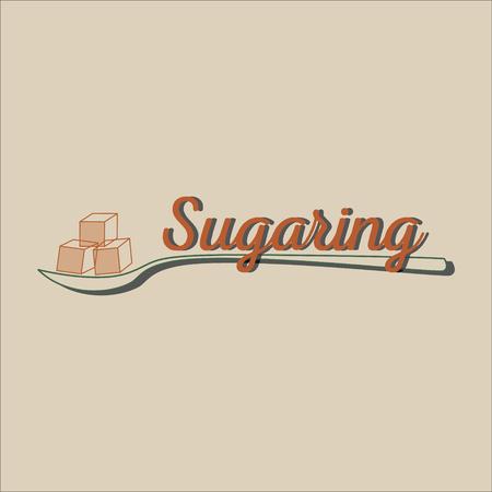 smooth legs: Sugaring icon. sugar paste