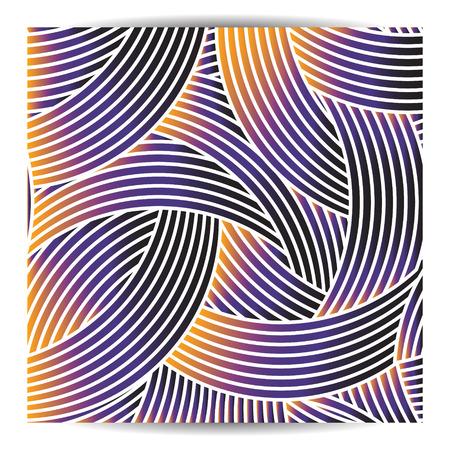 geometric design with crossed arc. beautiful gradient color Illustration