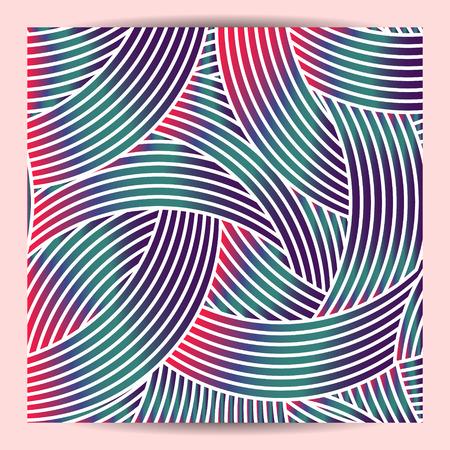 Geometric design with crossed arc. beautiful gradient color