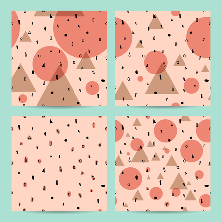 Vector abstract seamless pattern design set