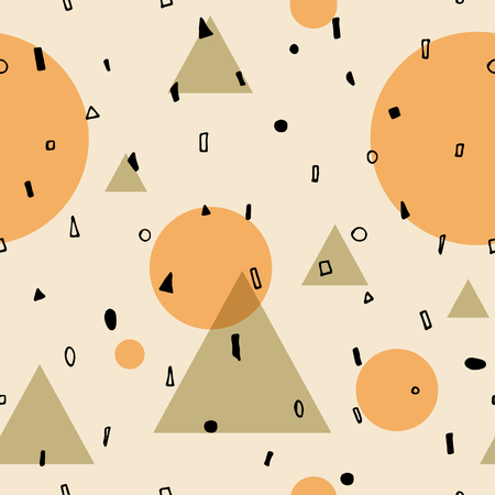Abstract geometric pattern with different shapes.