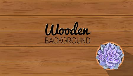 Modèle de fond en bois. Texture de table en bois. Planche de vecteur Vecteurs