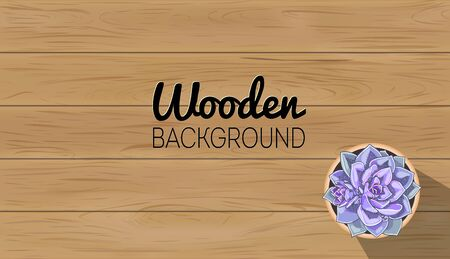 Wood background template. Wooden table texture. Vector plank board