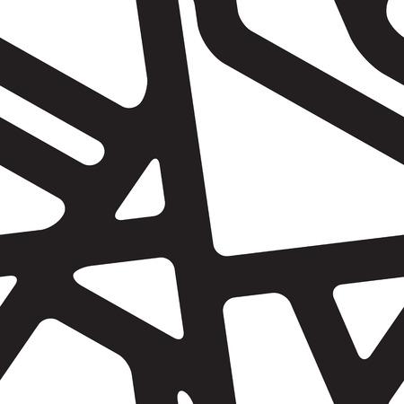 Vector geometric seamless pattern. Abstract striped background Ilustração