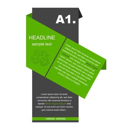 Creative column with headline Stock Vector - 21448757